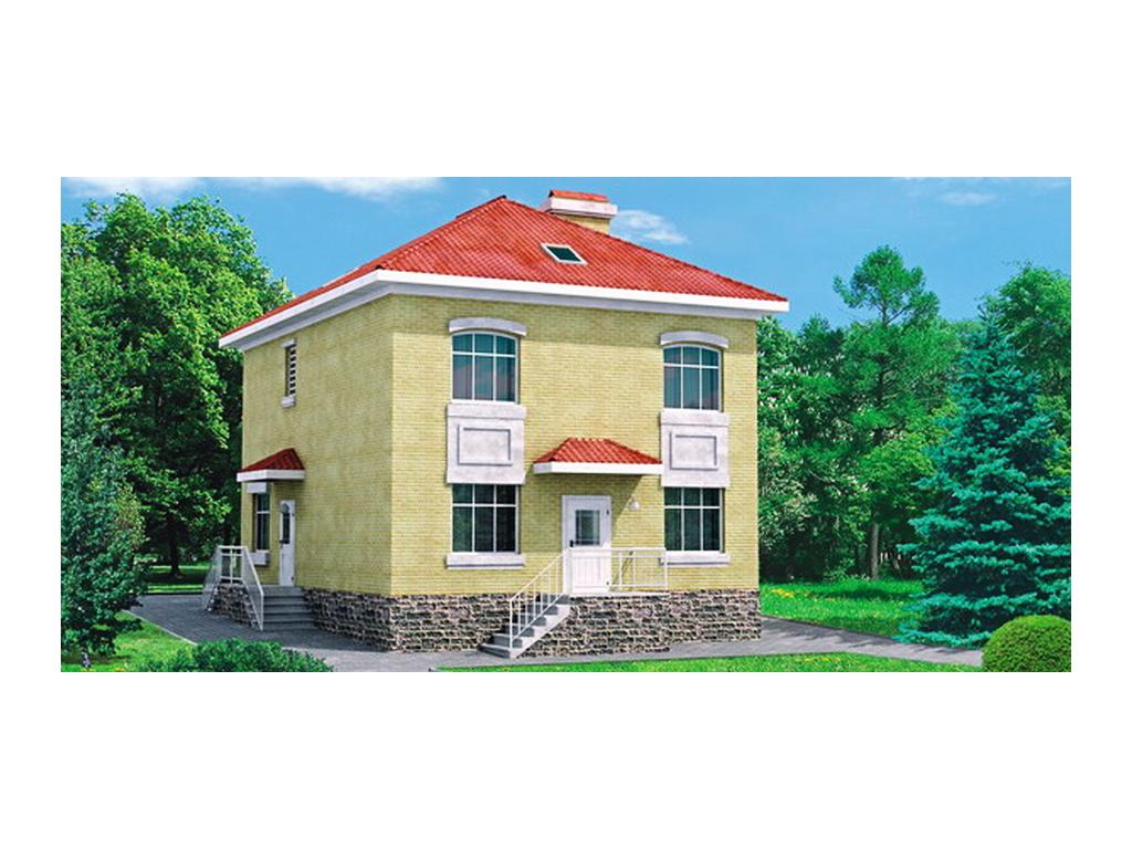 набор проект двухэтажного дома из пеноблоков операторами